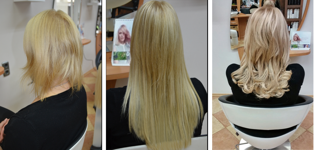 Blonde extensions for black hair